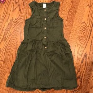 Carter's Army Green short sleeve button down dress